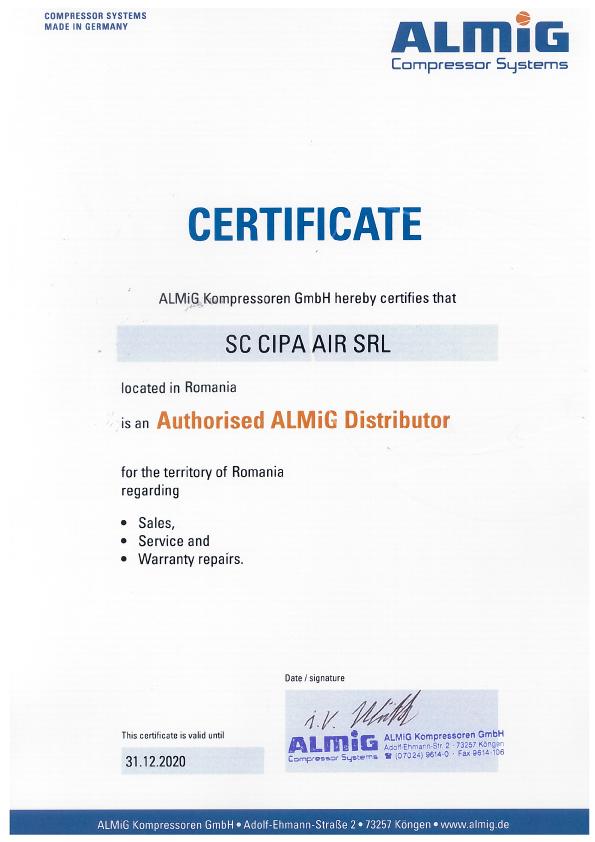 Certificat Almig