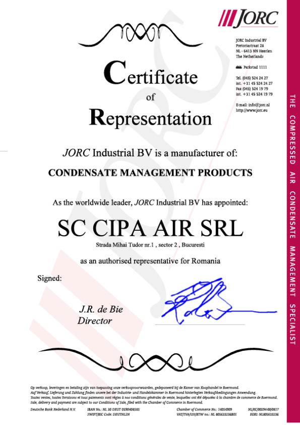 Certificat Jorc